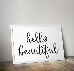 Plakat Hello Beautifull
