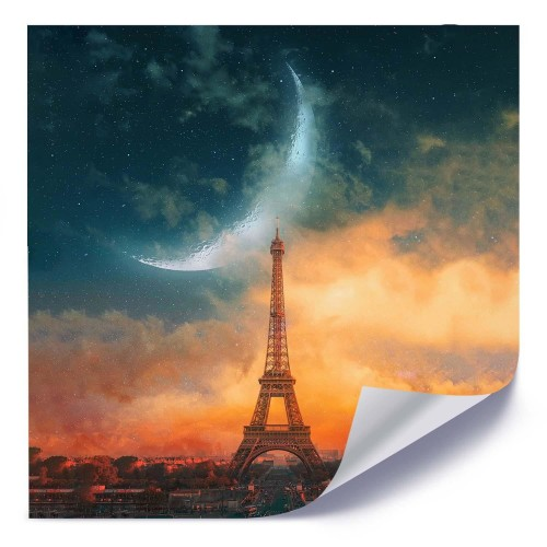 Plakat Księżyc Nad Paryżem