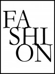 Plakat Fashion napis