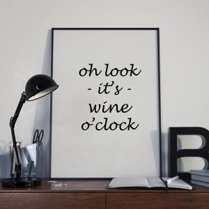 Plakat, Wine o'clock