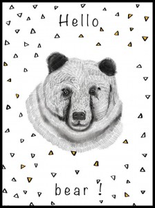 Plakat, Hello Bear