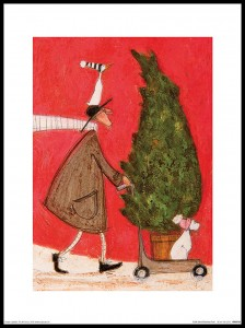 Plakat, Sam Toft Little Silent Christmas Tree - plakat premium