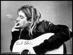 Plakat, Kurt Cobain Smoking Nirvana 61x91