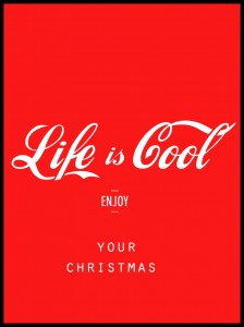 Plakat, Life Is Cool - Christmas
